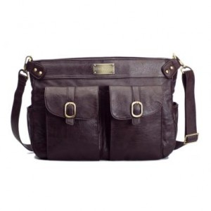 Стильная женская сумочка для фотоаппарата Kelly Moore brown-front 3...